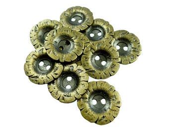 Metal buttons, 10pcs