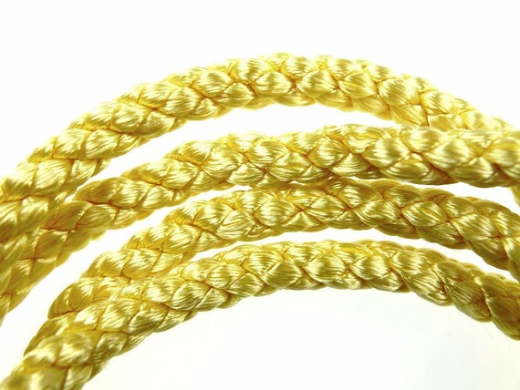 Silk style rope yellow 1960s french
