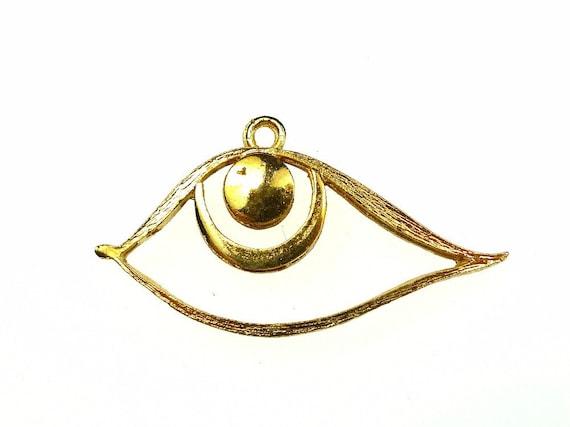 Eye pendants brass 2pcs