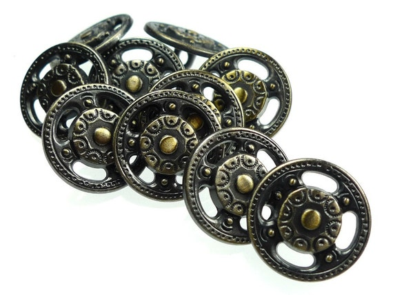 Metal buttons, 10pcs