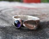 Sterling Silver Amethyst Flower Ring