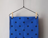 "Summer Blue ""Etoile"" Napkins - Set of 2, Navy Stars on Blue Feedsack Cotton"
