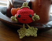 Crocheted Cranberry for Autumn