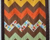 CUSTOM LISTING for EVABEAR -- Chevron Baby Quilt using Amy Butler Sun Spot Fabric