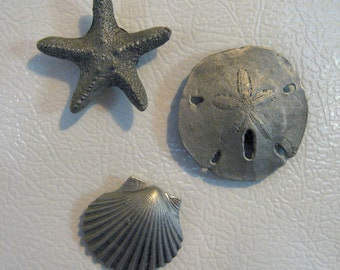 Pewter Sea Life Magnet Set