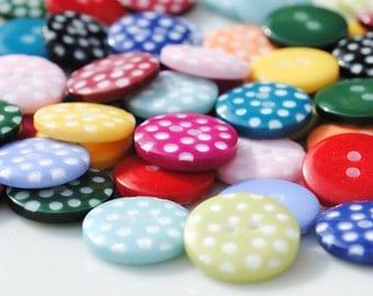 Polka Dot Button Mix - 70 buttons (12mm)