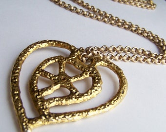 Heart Necklace Vintage