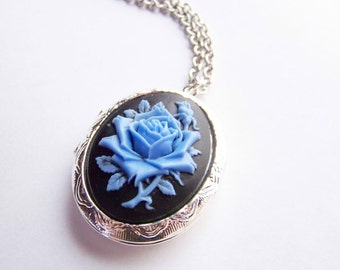 Blue Rose Locket
