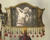 RESERVED FOR ANITA - Two Vintage Art Deco French Nude Flapper Boudoir Lamps - ooak