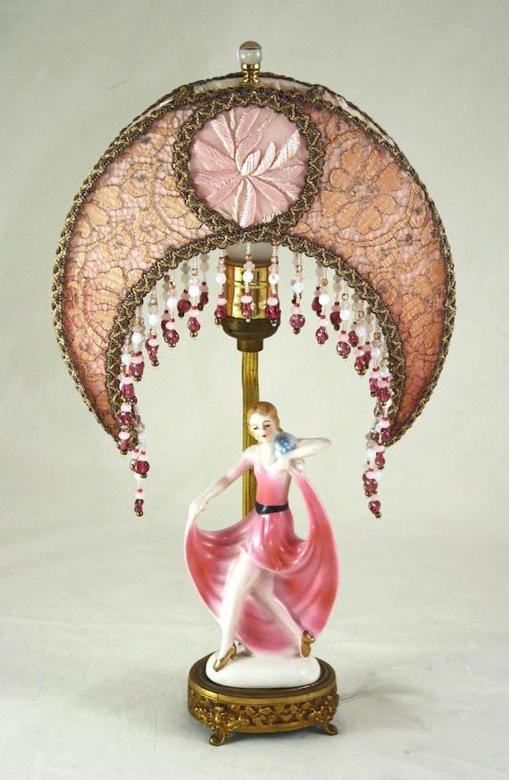 Art Deco Dancing Lady Antique Boudoir Lamp