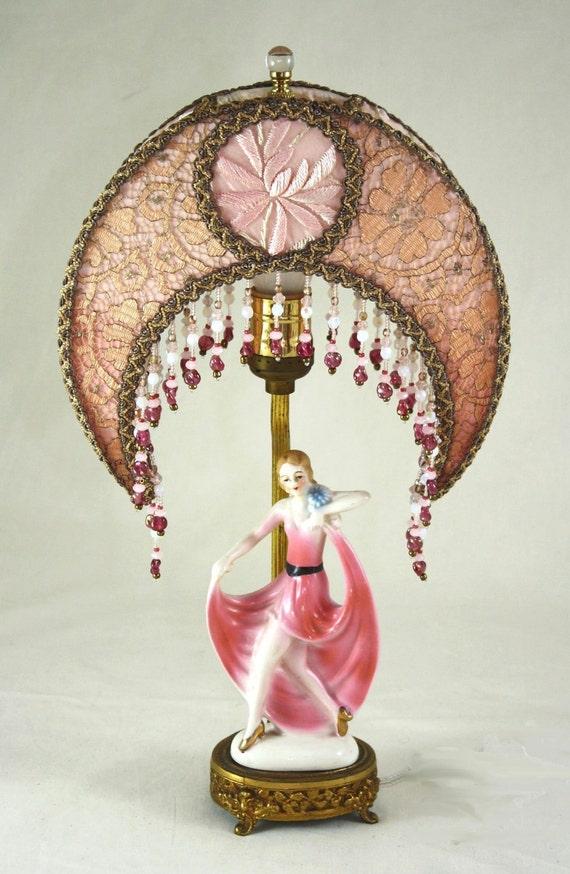 Art Deco Dancing Lady Antique Boudoir Lamp By Luxelamps On