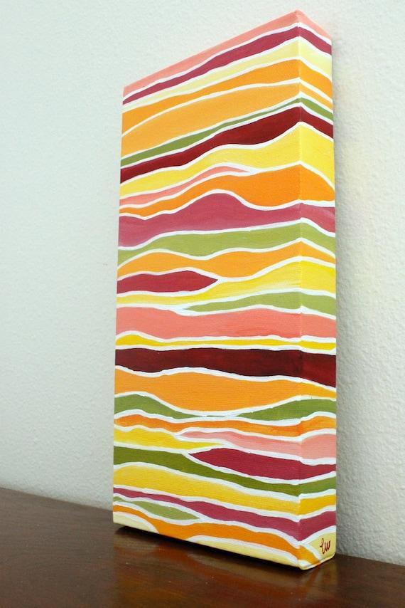 Petals--  Original Acrylic Painting on 6x12 Canvas