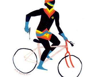 zeb kraid bicycle .  Doom Division . print