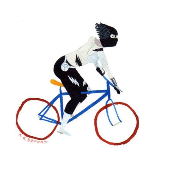 kid delicious bicycle .  Doom Division . print