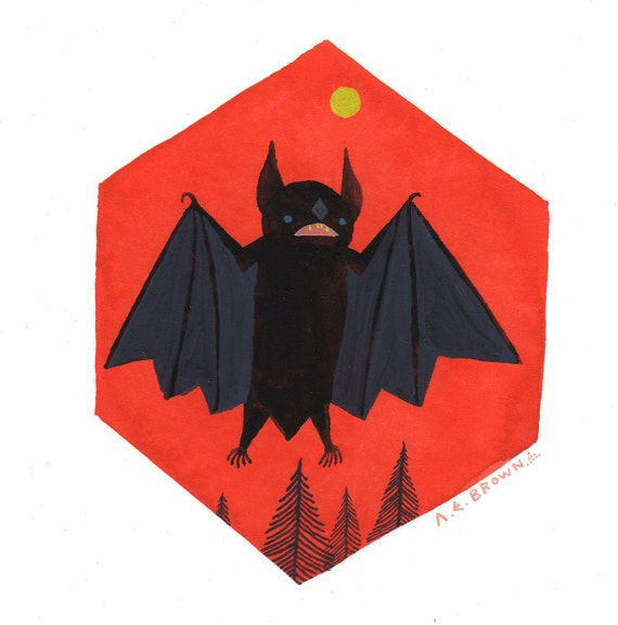 Eastern Small Fry Bat . Print