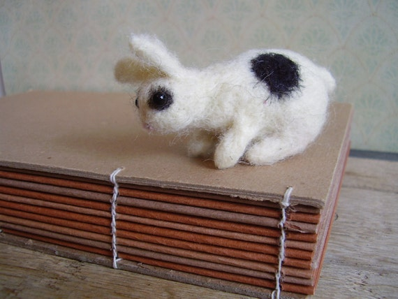 Rabbit baby, a needle-felted animal wool sculpture