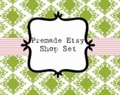 Premade Etsy Shop Set