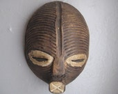 Small 7 1/2 inch Vintage 1980s African Chokwe Tribal  Mask