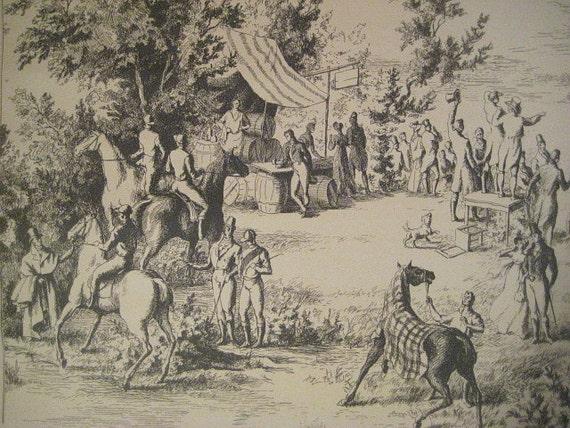 Vintage French Toile Wallpaper, 51 inches, a Jean Gourmelin Design, Ascott, Impressions de Beausejour, Nobilis, Paris