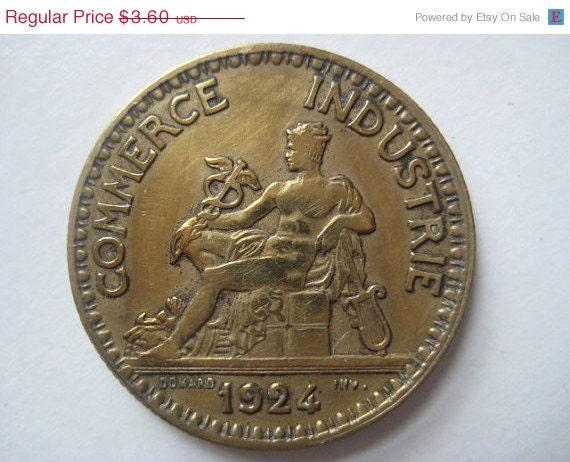 Birthday sale 1924 french coin bon pour 2 francs by for Bon pour 2 francs 1925 chambre commerce