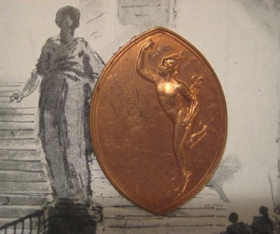 Roman God Mercury Winged God Rare Vintage Brass by StarPower99