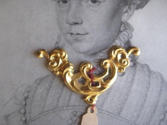 1 Unused Antique Stamped Brass 1 3/4 inch Ornate Trim - Art Supply,  Repurpose, Recycle, Restoration
