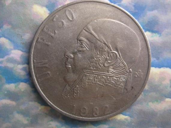 1982 Coin, Mexico, Un Peso