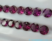 GRAPE Garnet . Natural. Round. 1pc. 0.82 cts. 6mm (GA161)