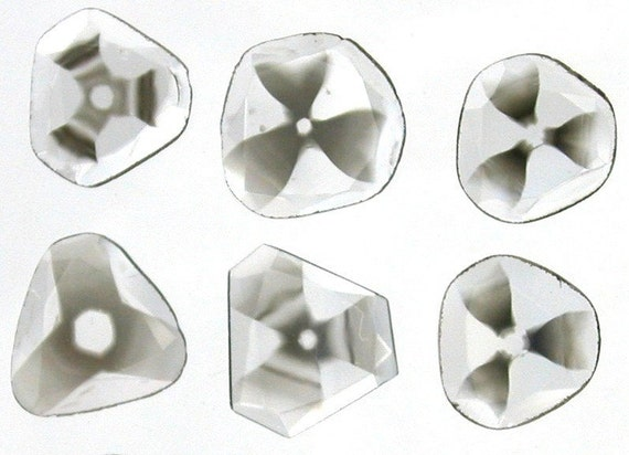 NATURAL DIAMOND Faceted Slices. Carbon Pinwheel Pattern Inclusions. 0.23 cts. 6.5 mm (DIA60)