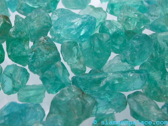 Apatite. CYBER Week Specials - Limited Supply. Rough Blocky SUPER COLOR 50 grams (apb342-50)