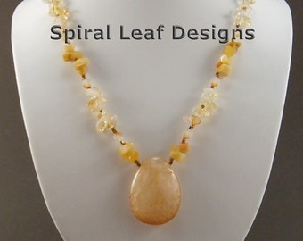 Crystalized Honey Necklace
