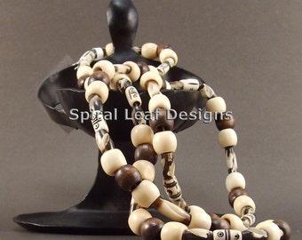 Bone, Horn, & Wood Necklace