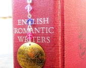 Jane Austen quote bookmark - books are too short - hand stamped metal -Made to Order-