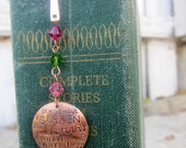 Cicero Quote bookmark - A garden and a Library is everything - hand stamped metal