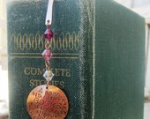 A room without books - Cicero Quote - hand stamped metal bookmark -Made to Order-