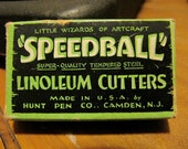 Vintage Speedball Blades and Box