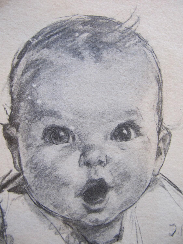 Vintage gerber baby prints