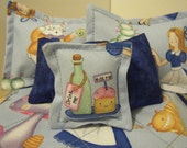 Barbie Quilt and Pillow Set - One of a kind - Alice in Wonderland