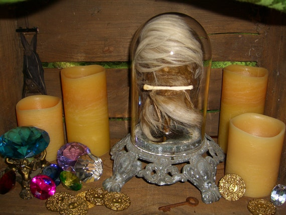 Shrunken Head In Glass Dome