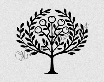 Tree of Life Instant Download for Iron On Transfer Digital Download for Burlap, Tote Bags, Tea Towels, Pillows from Vintage Restyled 256