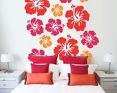 Hibiscus Wallpaper - Vinyl Wall Decor