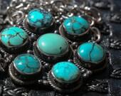 Martina - Turquoise Bezel Pendant / Necklace