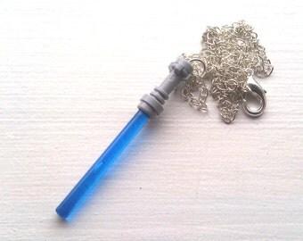 BLUE Star Wars Lightsaber Necklace