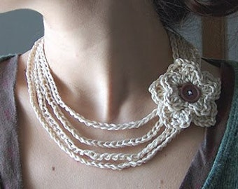 Crochet,Necklace, Headband and Bracelet All In One