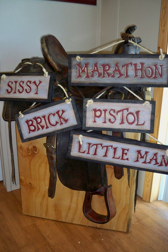 Custom Order Signs Barn Horse Stall 4h Wood Signs