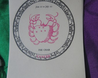 The Crab Cancer vintage Bookplates