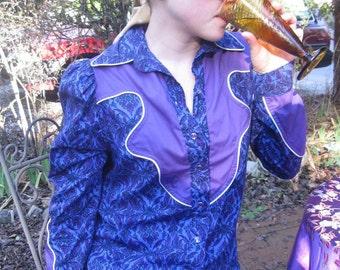 Crown Chakra Western Cowgirl Shirt