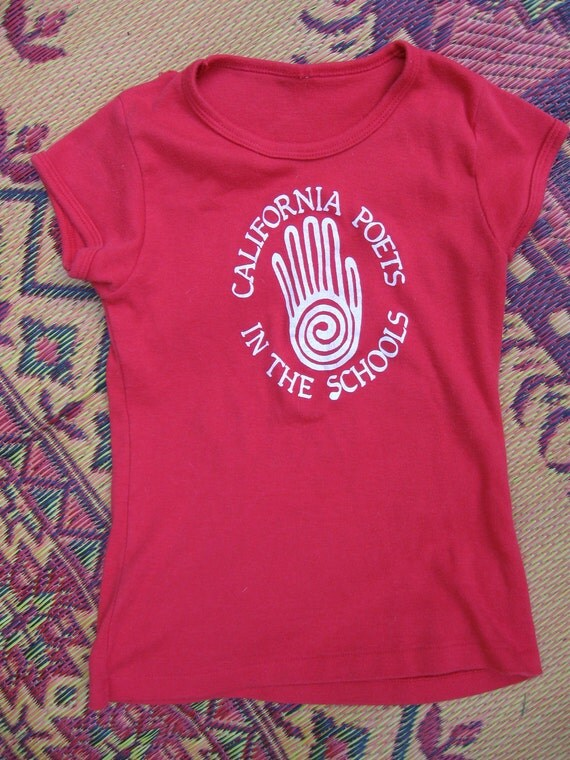 Vintage 70s Red Poets Society Tee Shirt