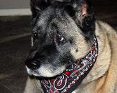 Dog Bandana - Black - Large