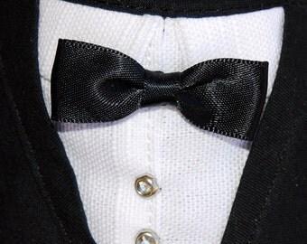 Medium Sized Tuxedo Bandana Dog Tux Pet Wedding